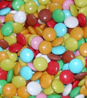 Farebné čokoládové guličky 5kg - menšie