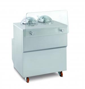 Vitrína kombinovaná s výrobníkom zmrzliny  GX2
