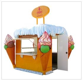 Predajný stánok na zmrzlinu