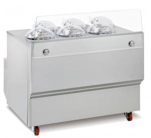 Vitrína kombinovaná s výrobníkom zmrzliny GX6